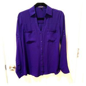 Express Purple Portofino Blouse